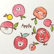 リンゴのハンコ