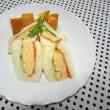 ★ふんわりオムレツサンドと冷たいスープ★