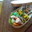 お弁当(豚肉の絹揚げ巻き・スープ煮)