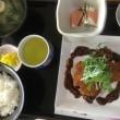 6月12日の日替り定食(550)は、アジフライ、胡麻味噌ソース です。