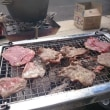 ご近所さんのお庭でBBQ ~ダッチオーブンでローストビーフ、タン、焼き鳥、イカの串焼きなど~