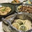 晩ご飯☆秋鮭のホイル焼き&焼鳥☆