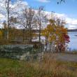 絶景、秋の朱鞠内湖。。。