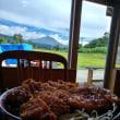 磐梯山を見ながらソースカツ丼