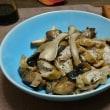 ナスとエリンギの甘辛いため煮に油揚げをプラス