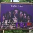 4月27日(金)のつぶやき:ENDRECHERI NEW ALBUM HYBRID FUNK 2018.5.2 RELEASE(JR原宿駅線路ビルボード広告)