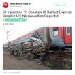 またです。インド北部で急行列車が脱線事故 負傷者74人