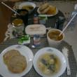朝から鶏団子スープ(香港土産を使うため!)
