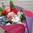 本日の作品紹介 - お祝い花束&京子さんのお花