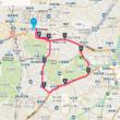 新宿から神宮外苑、青山通り、四谷経由、周回コース