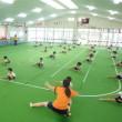 おれんじ 5歳児 運動会の練習☆体育館下