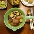 旨辛煮こみハンバーグにシャキシャキ野菜の献立:ひと味変えた牛蒡サラダ