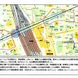 「ストップ・リニアの歌」 「名古屋駅周辺 リニア路線浅深度 開削地・駅前開発」(川本さんより)
