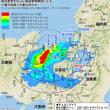 高浜原発を中心に福島原発  事故の汚染地図を重ねた図