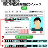 今日以降使えるダジャレ『2194』【政治】■免許証に元号と西暦併記へ…希望者多く方針転換