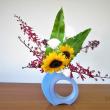 明るい「ヒマワリ」で、初夏の自由花