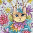 20170902猫イラスト作品。ねこネコぬこ植物花。