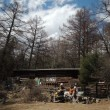 富士見平小屋でベニテングライブ と鷹見岩