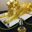金のライオン