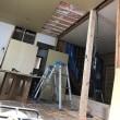 岡山市南区芳泉での住宅リノベーションで天井下地工事中