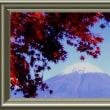 『紅葉景』 河口湖