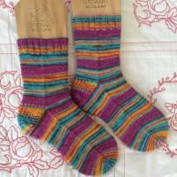 手編み靴下 作品NO.253
