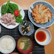 冷しゃぶ餃子定食、炊屋食堂の日替わりメニュー・・・激安 !