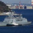 韓国海軍艦艇入港