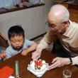 83歳の誕生祝に来てくれた3歳の孫、遥人