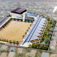 長野県某小学校コンペ案の建築イラスト