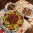 サバ味噌煮&焼きシュウマイ&フライドポテトサラダ