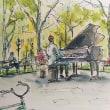 水彩画 piano man2