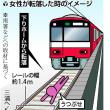 線路に高齢女性が転落、レール間に倒れ、電車が通過したが、軽傷…。横浜市南区の京急線