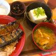 秋刀魚の蒲焼丼でがんばる!