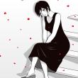 petal drop II:illustration 2018.05.27