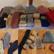 gris さんの手編み冬アイテム展示中