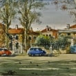 北イタリア スケッチ旅 2 「 リッツァルディ通りの家々 メストレ 」