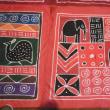 アフリカの布で作ったリュック