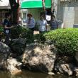 猛暑の中での中央公園ライブ