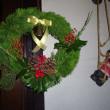 リースとテーブルクロス クリスマスバージョン