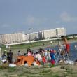 葛西臨海公園のなぎさで海水浴