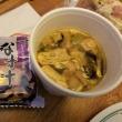 ハワイ旅行編(12) 朝食はホテルの部屋で ~ ABCストアのスパムおむすび&ツナアヒポキ、そして、日本からのインスタント味噌汁、昨日の残りのサラダ ~