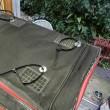 CB250エクスポート CBに旅バッグを取り付ける。