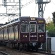 阪急 坪井踏切(2014.8.31) 3320F 快速急行 梅田行き