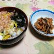 晩ごはん☆あったかいお蕎麦と切り干し大根の煮物
