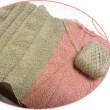 「編み編み中」