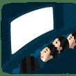 映画を観に行く