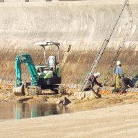 防潮堤工事に変化