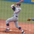 8回表、慶應1年生正木タイムリー二塁打