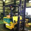旭フォークリフト本日の工場の様子「昨日の中古フォークリフト進展状況と、お客様のフォークリフトのブレーキ分解の様子」